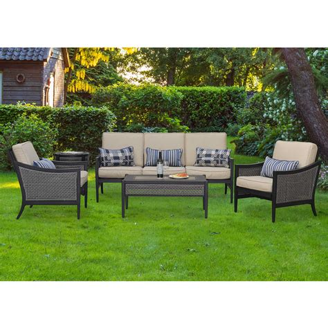 sunjoy patio furniture sunjoy poppy 4 pc patio chat set outdoor living patio