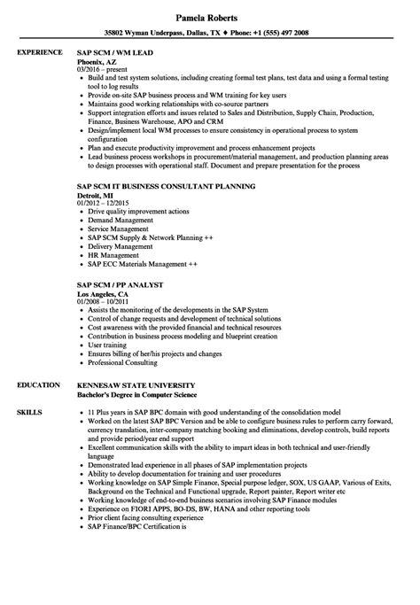 scm resume format scm resume sugarflesh