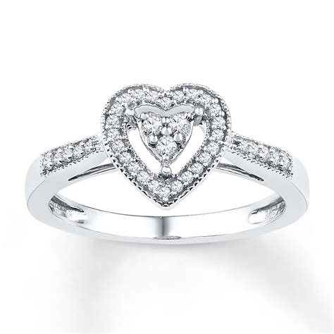 promise ring 1 5 ct tw diamonds sterling silver
