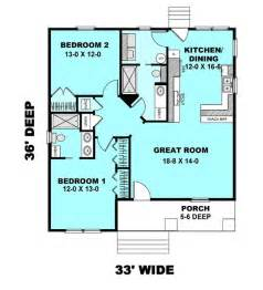 Easy To Build Floor Plans by Cottage Style House Plan 2 Beds 2 Baths 1073 Sq Ft Plan