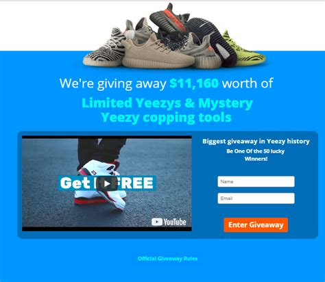 Yeezy Giveaway May 2017 - enter to win free yeezys in the most massive giveaway of 2017