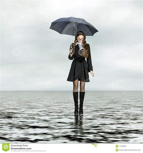 Standing In The Rain by Standing On Water Stock Images Image 17540394