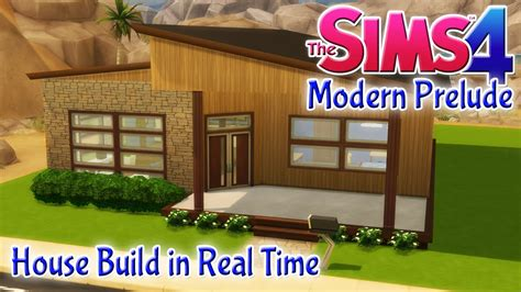 2 bedroom wooden house the sims 4 house build modern prelude 2 bedroom starter