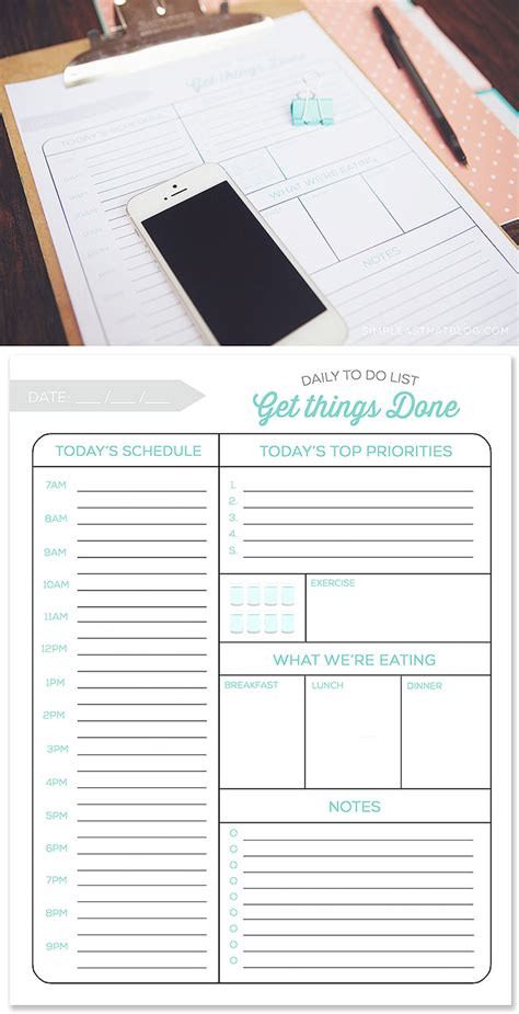 printable 5 day to do list printable daily to do list and tips for a more productive day