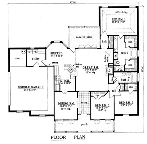 1900 Sq Ft House Plans by Country Style House Plan 3 Beds 2 Baths 1900 Sq Ft Plan