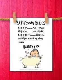 Kids Bathroom Signs Kids Bathroom Art Humor Decor Bathroom By Weloveprintableart