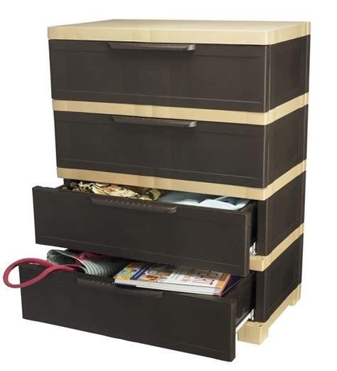 nilkamal kitchen furniture nilkamal chester 14 with 4 drawers weather brown and