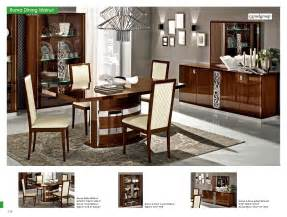 Contemporary Italian Dining Room Furniture Roma Dining Walnut Italy Modern Formal Dining Sets Dining Room Furniture