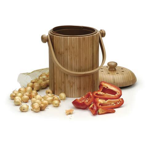 compost wizard 075gallon wood kitchen compost bin shop compost wizard 0 75 gallon wood kitchen compost bin