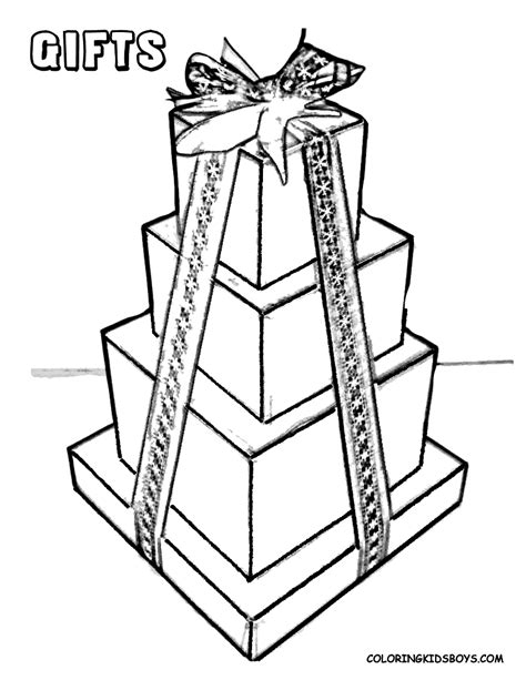 wrapped present coloring page christmas coloring pictures christmas day free