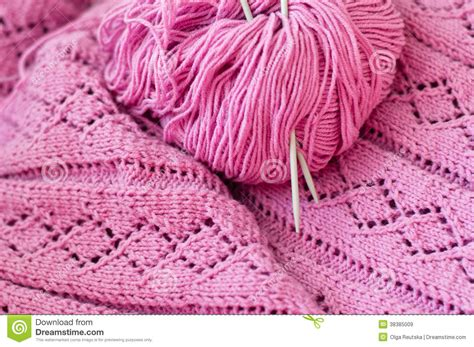 Handmade Knitting Designs - closeup on pink detail of handmade woven knitting stock