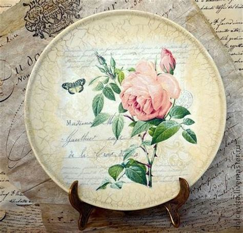 Decoupage Plate - pin by danelle on diy decoupage