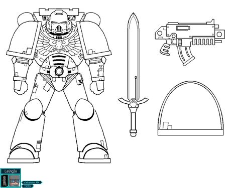 Space Marine Template by Space Marine Color Template V2 By Leinglo On Deviantart