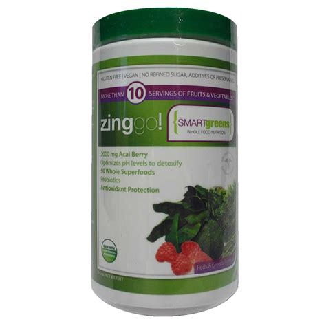 Detox With Zing by Dr Carbs Zing Go Superfood 10 5 Oz Evitamins