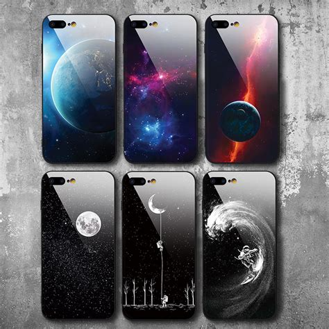 iiozo cool space moon tempered glass phone cases  iphone   case  iphone