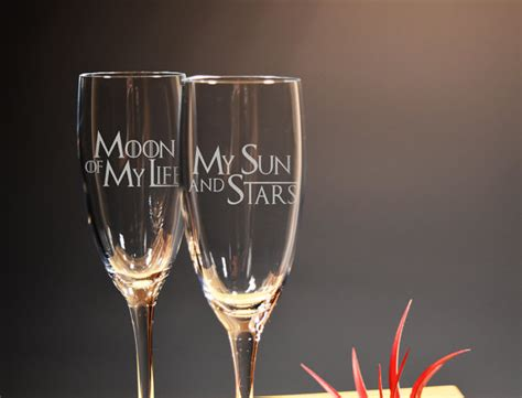 games of thrones wine glasses game of thrones moon and stars wedding flutes toasting