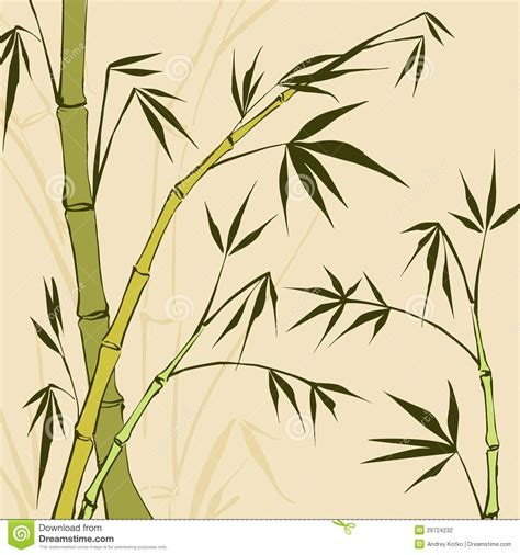Drawing Of A Bamboo Tree by Bamboo Painting Stock Vector Image Of Decoration