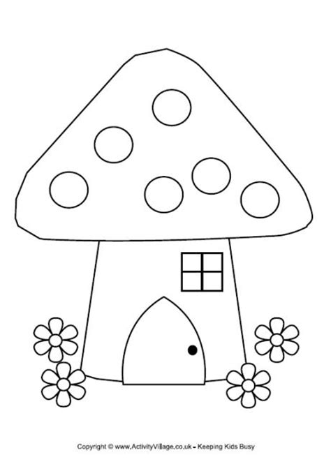 printable fairy house fairy house colouring page