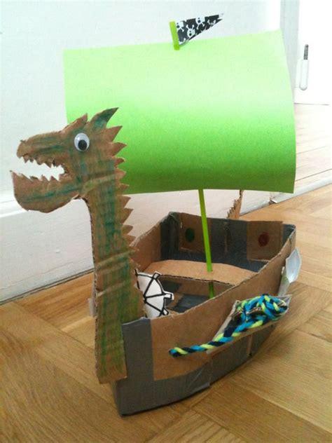 viking boats to make viking boat made of cardboard art ideers for schools