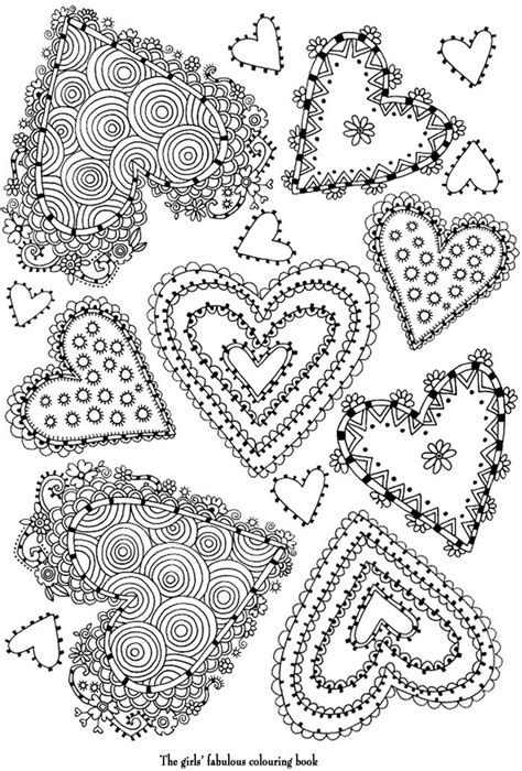 pretty hearts coloring pages coloring pretty hearts coloring pages pinterest