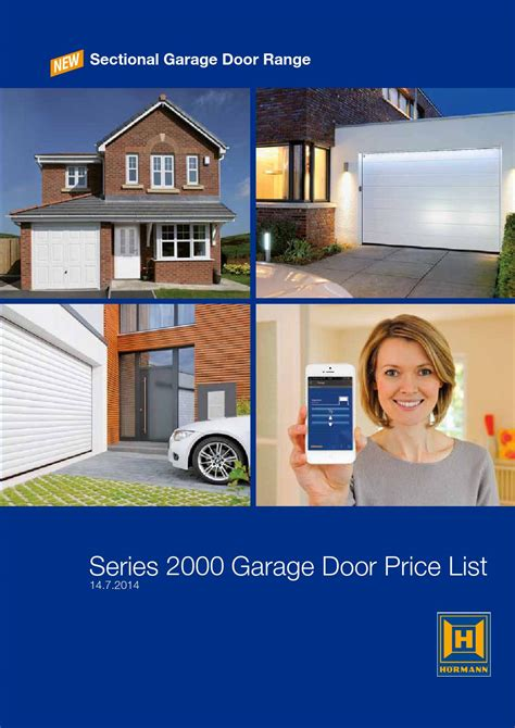 Overhead Door Price List Door Price Hormann Garage Door Price List