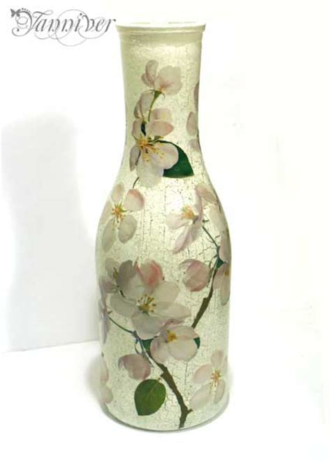 Decoupage Vase - decoupage vase apple blossom by yanniver on deviantart