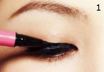 tutorial menggunakan lipstik ala korea tutorial eyeliner unik ala korea