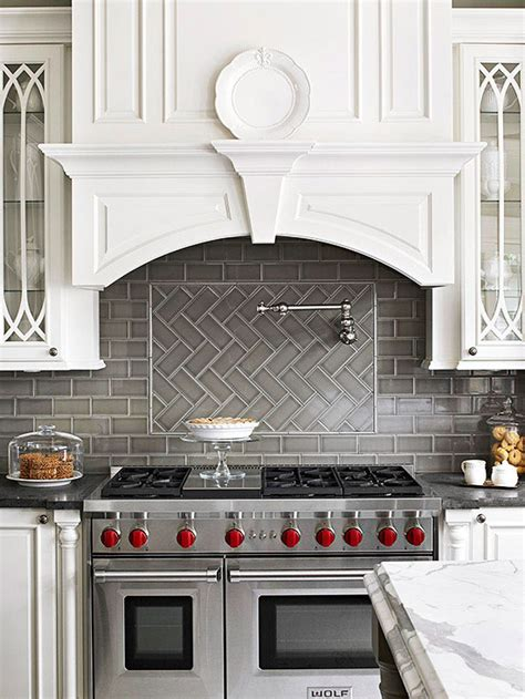 grey kitchen backsplash pattern potential subway backsplash tile centsational girl