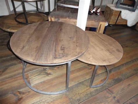 houten blad voor salontafel bol set salontafels houten blad grijs onderstel
