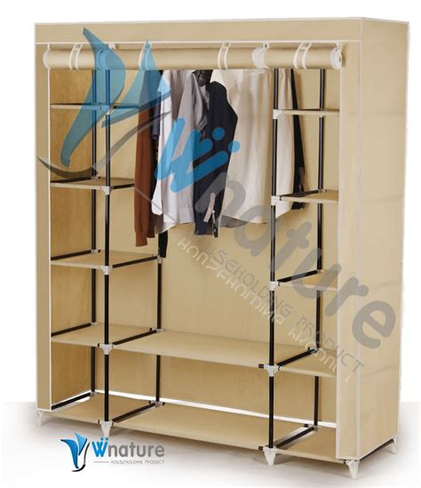 portable bedroom folding fabric portable bedroom wardrobe with metal frame