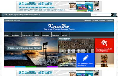 wordpress layout keren free download themes wordpress kentooz keren bro news ellas