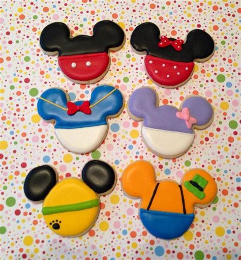 mickey mouse character cookies etsy for cookies