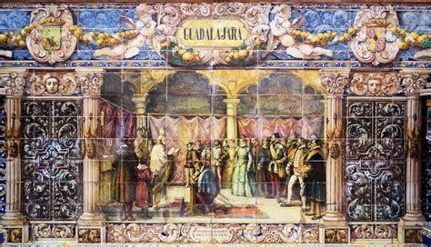 azulejeria sevillana guadalajara plaza de espana
