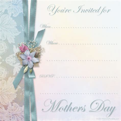 spring flowers invitation template card stock illustration