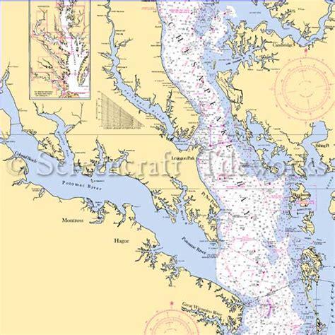 Kitchen Island Table Combination Maryland Potomac River Md Va Nautical Chart Decor