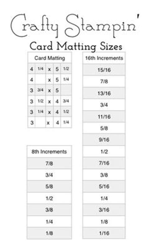 Photo Mat Sizes by 1000 Images About Cards Mat And Envelope Size On