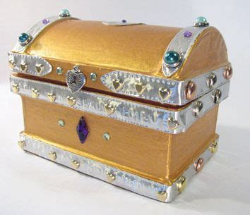 treasure chest made from a paper mache box from hobby