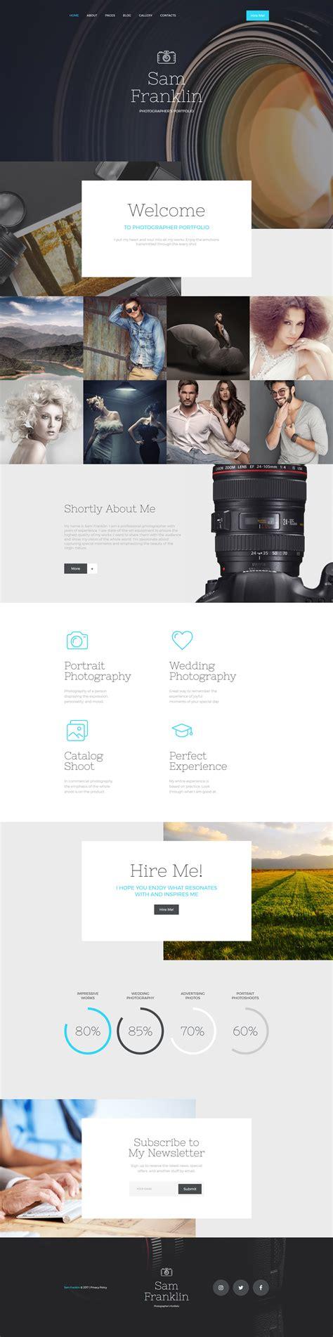 photographer portfolio responsive joomla template 57793