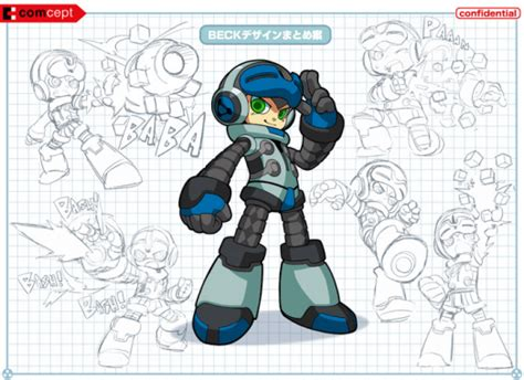 design intake there should be a little mighty bar like mighty no 9 keiji inafune sketches enemy for game