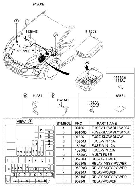 hyundai elantra multi fuse hybrid electrical  hyundaionlinepartsnet