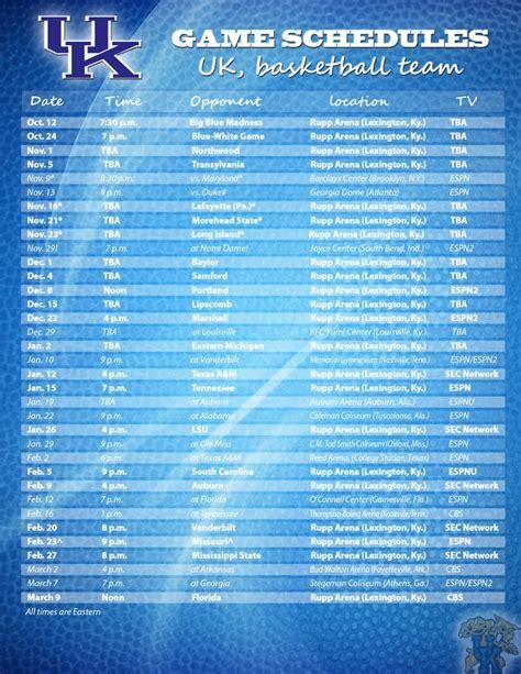 uk basketball schedule calendar 32 best images about uk basketball on pinterest