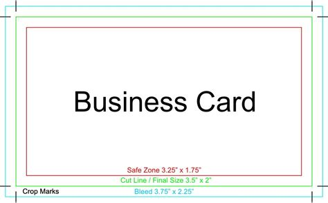 Iwork Business Card Templates by Business Cards Size Bleed Gallery Card Design And Card