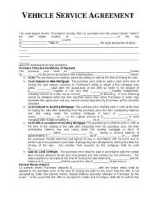 auto repair contract template vehicle service agreement template hashdoc