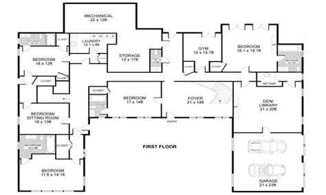 floor plans of houses u shaped one story house u shaped house plans single story