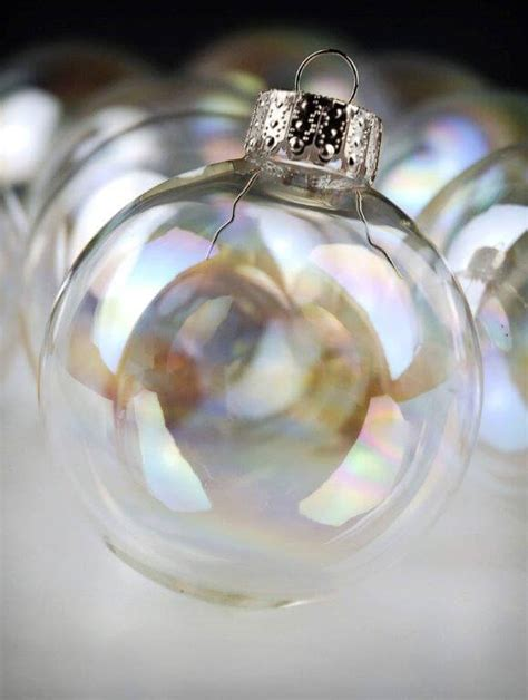 10 iridescent glass 2in ornament balls 60mm
