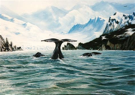 Jersey Shore Artwork Gifts Whale Prints By Bill Mckim - tailing whales prince william sound by bob patterson