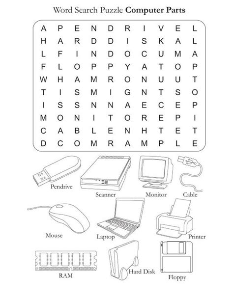 worksheet computer parts parts of the computer worksheets computer parts free word search puzzle computer