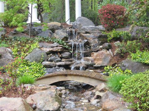 backyard bridge ideas garden pond and waterfall with bridge in connecticut