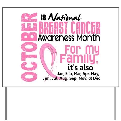 breast cancer awareness month yard sign by pinkribbon01