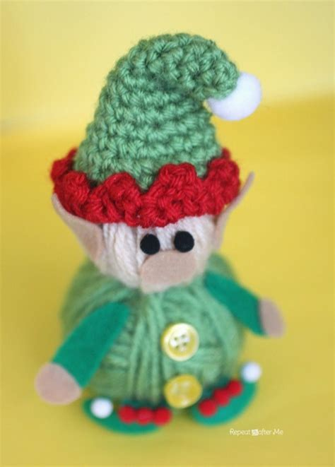 pattern for felt elf hat yarn ball elf repeat crafter me